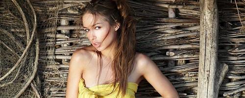 Darina at the old fishing hut