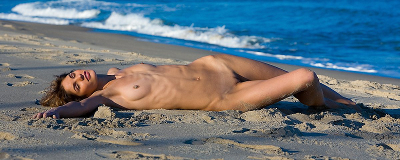 Demi naked on the beach