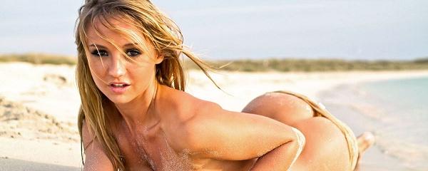 Dionne Daniels on the beach