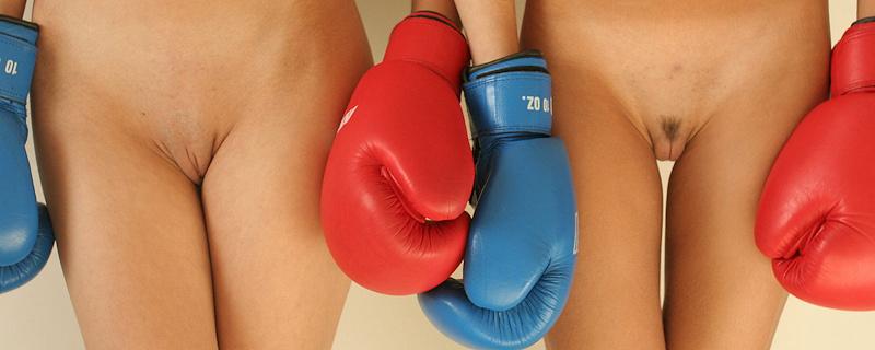 Ekaterina & Larissa – Boxing sparring