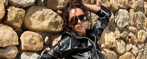 Ela in leather jacket