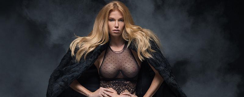 Elizabeth Ostrander – Black stylish fur