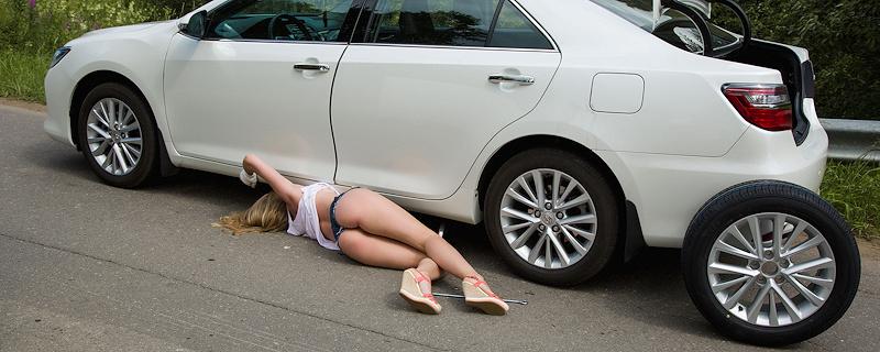 Ella – Broken down Toyota Camry