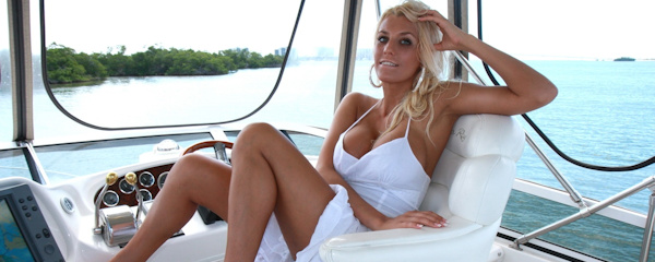 Ember Reigns on the boat