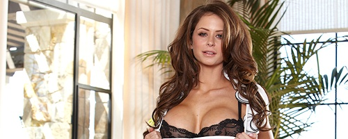 Emily Addison – Black stockings & garters