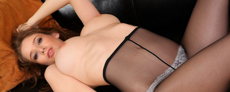 Emily Agnes – Black skirt & pantyhose