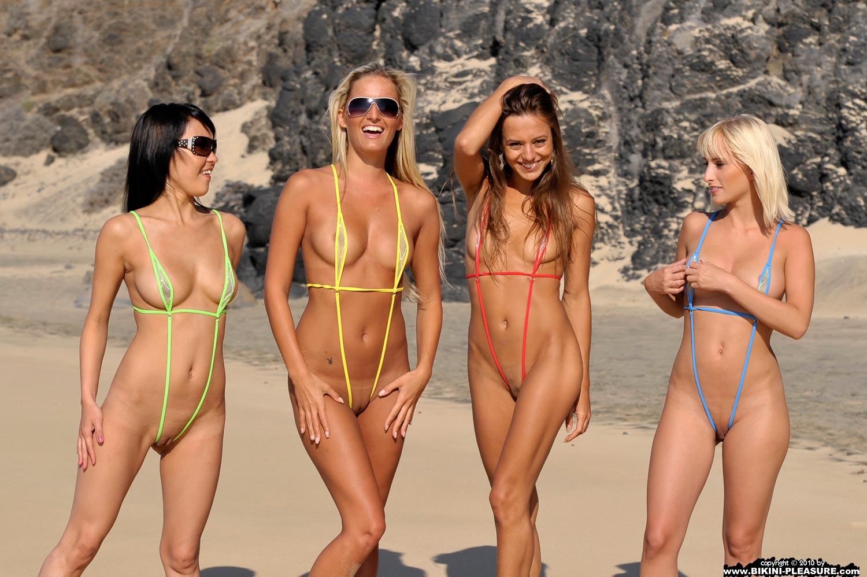 Four Girls Naked four girls in sling bikini 02 redbust