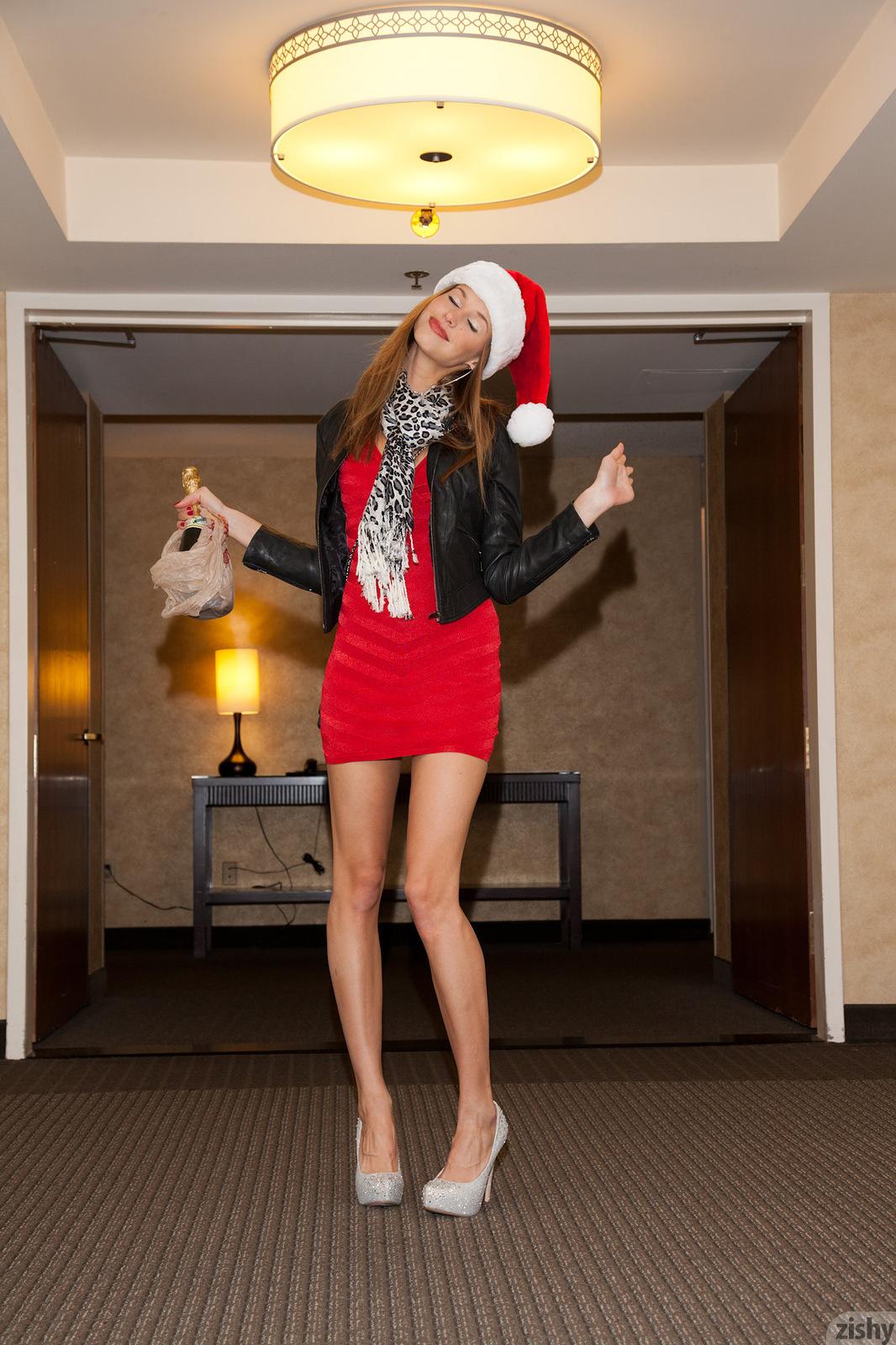 Geri Burgess Holiday Party Red Dress Zishy 02 Redbust