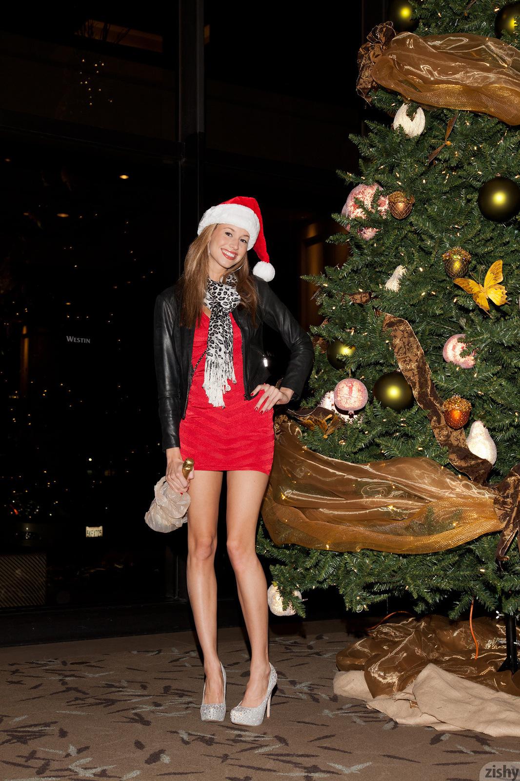 Geri Burgess Holiday Party Red Dress Zishy 04 Redbust