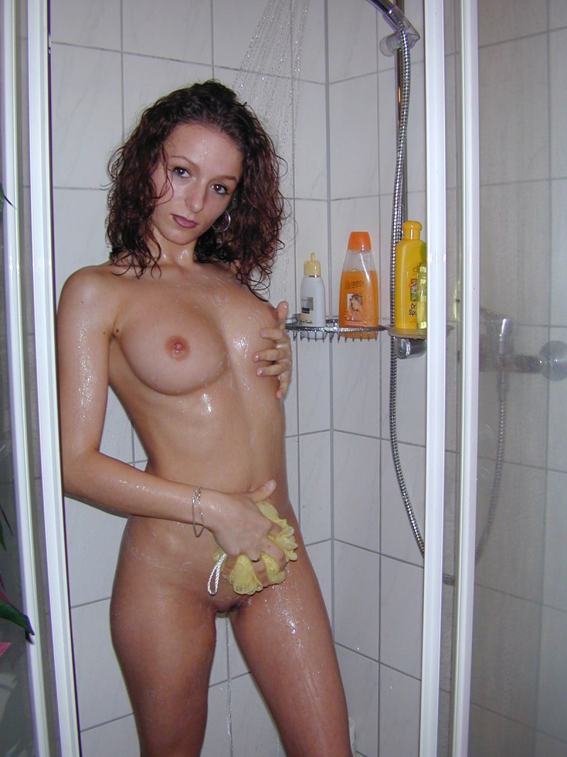 Girs in shower