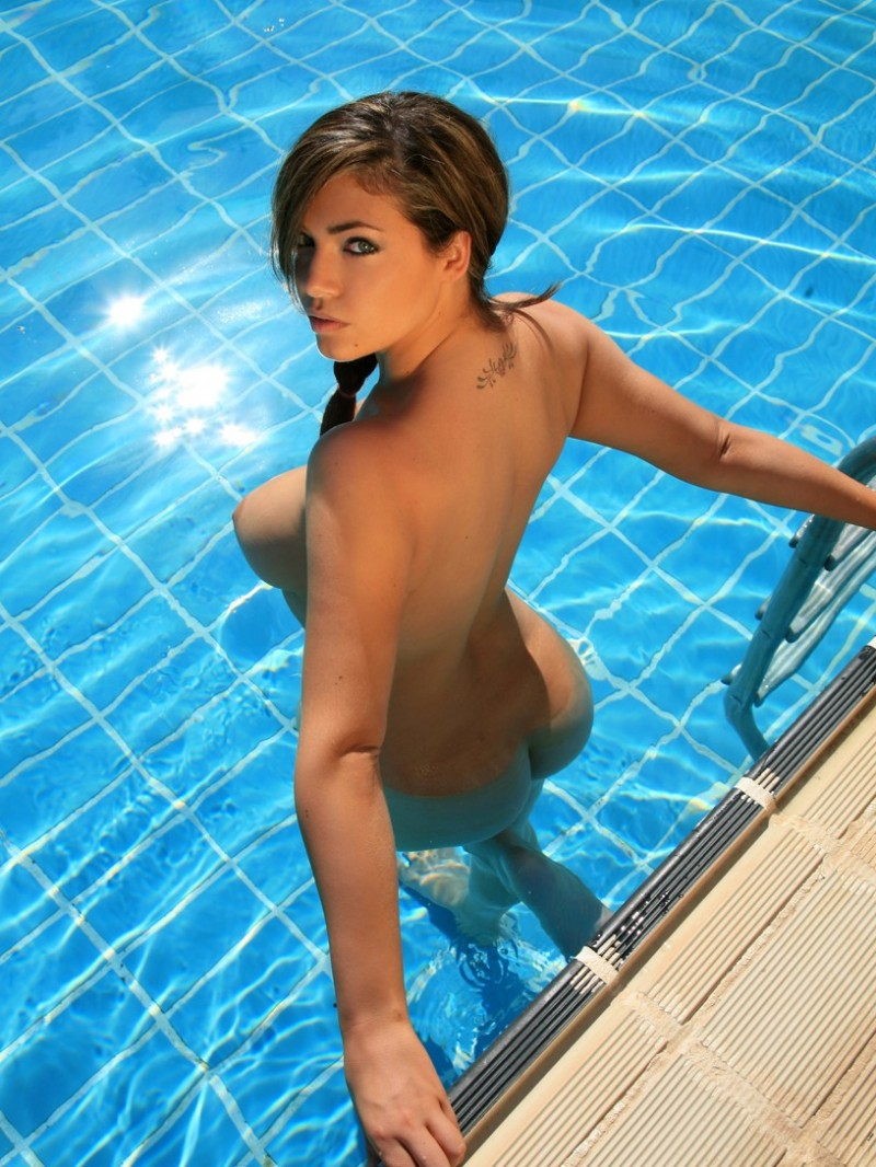 sexy babes on the pool
