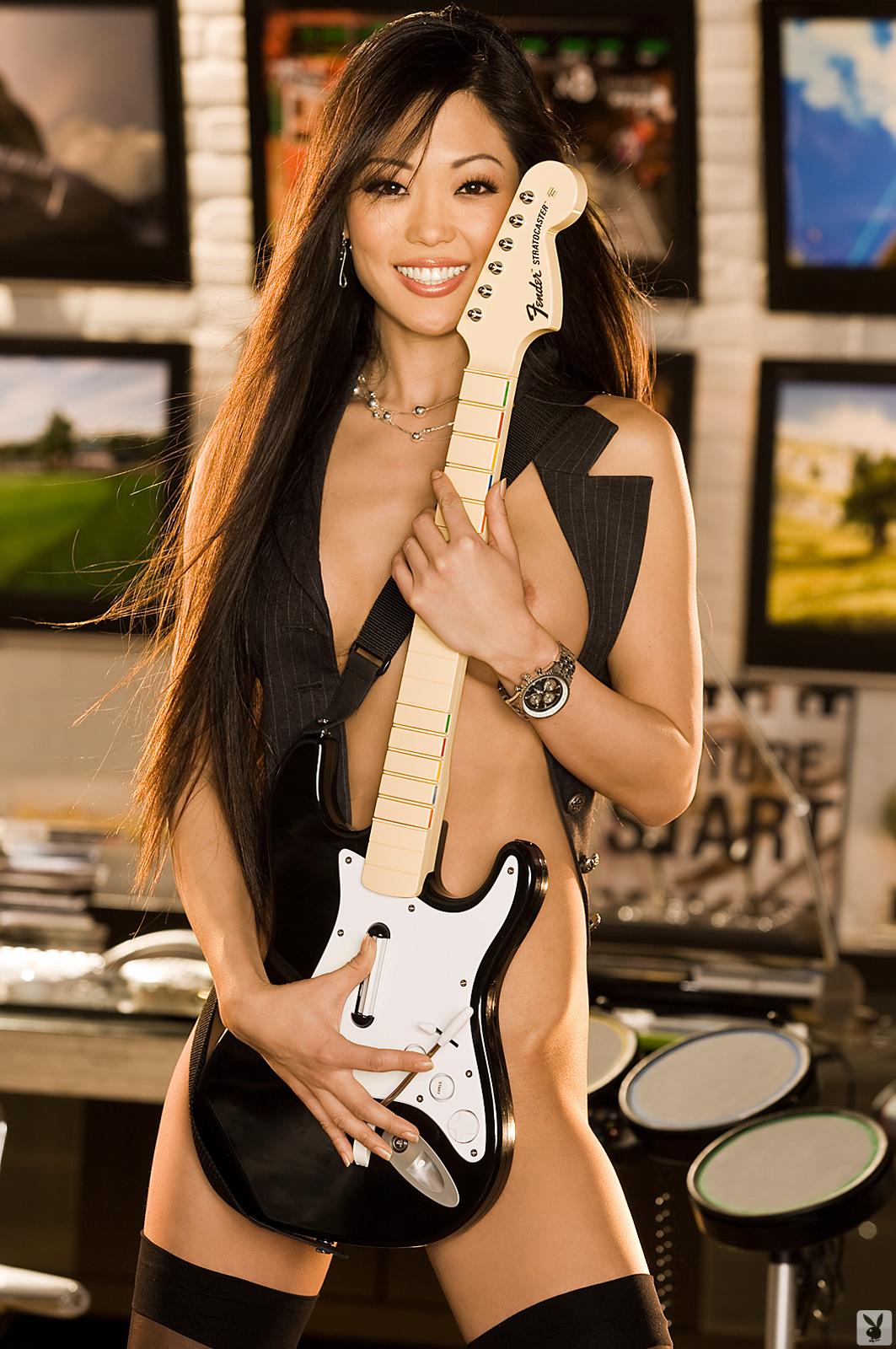 grace-kim-guitar-stockings-naked-asian-playboy-18