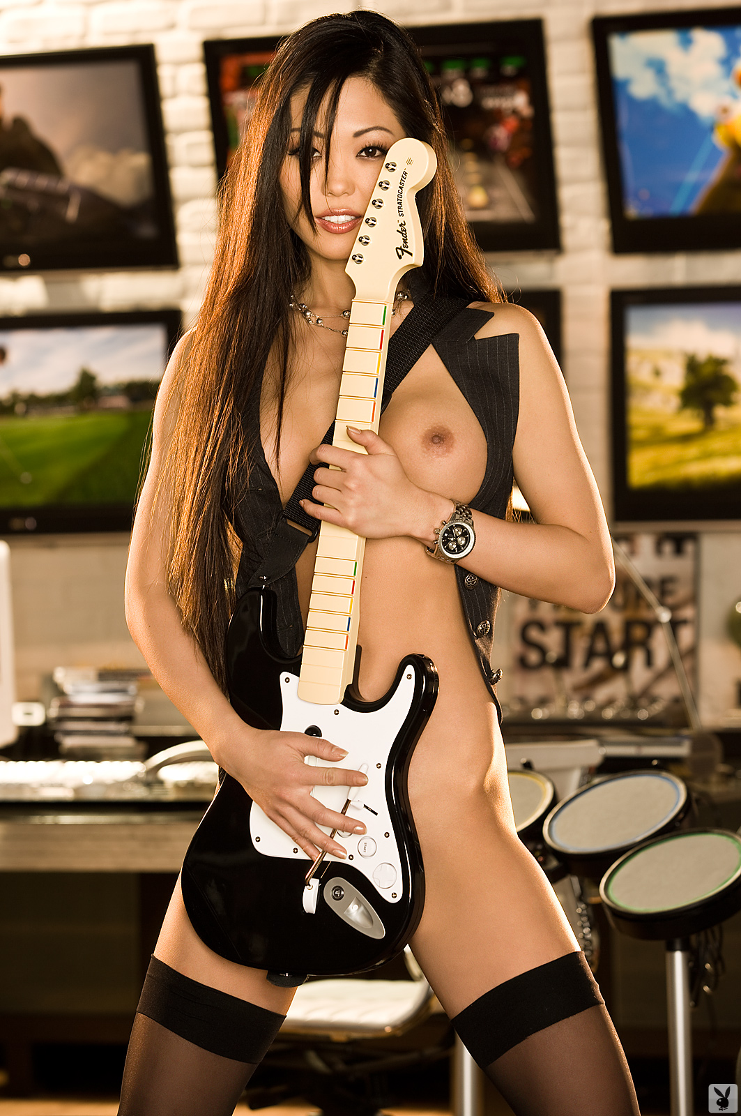 grace-kim-guitar-stockings-naked-asian-playboy-19