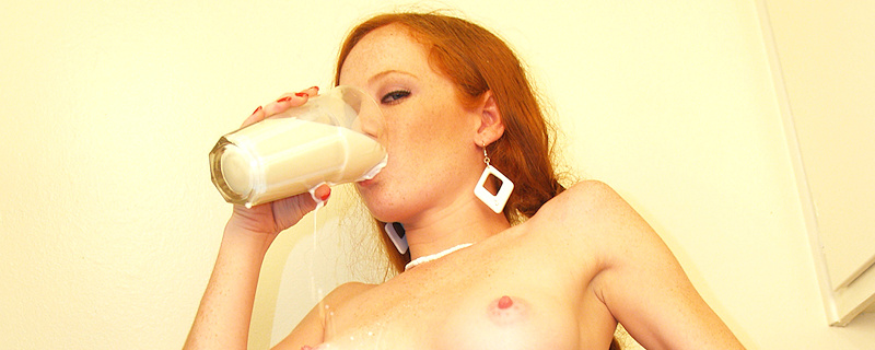 Heather Carolin and glass of milk
