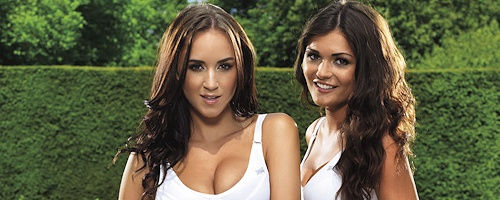 India Reynolds & Rosie Jones – Topless Tennis