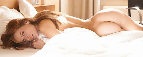 Irene Richie in bedroom