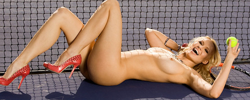 Irina Voronina playing tennis