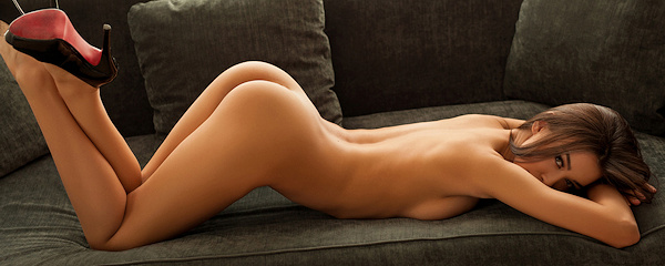 Jackie naked on the couch