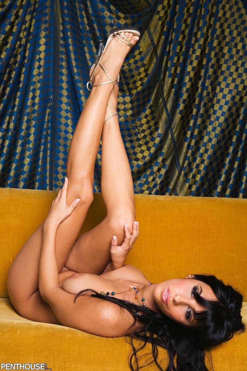 jaime-hammer-brunette-corset-naked-penthouse-12