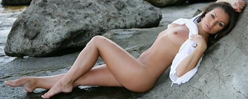 Jana Mrazkova on the rocks