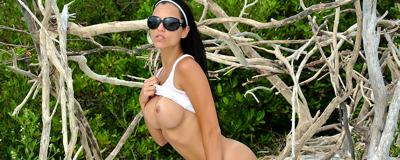 Janessa Brazil on the wild beach