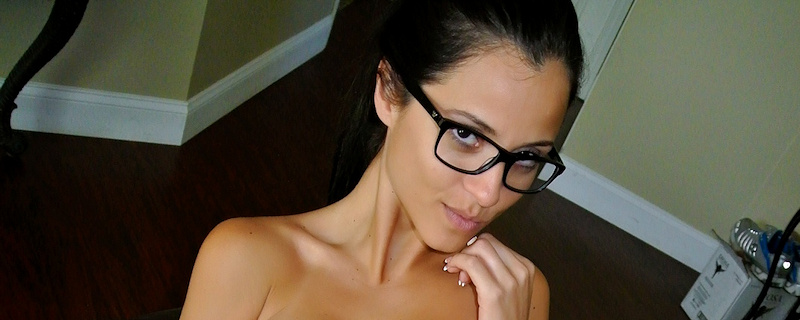 Janessa Brazil wearing glasses