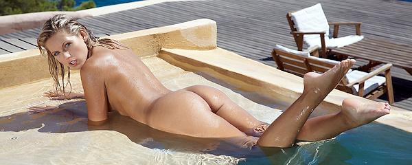 Jenni in the pool
