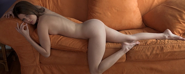 Jenni Lee naked on sofa