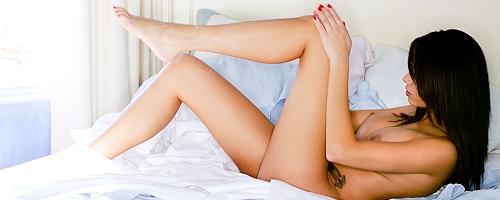 Jennie Reid in bedroom