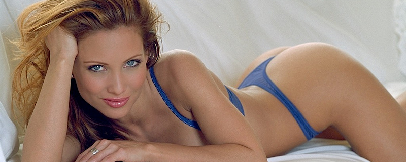 Jennifer Korbin in blue lingerie