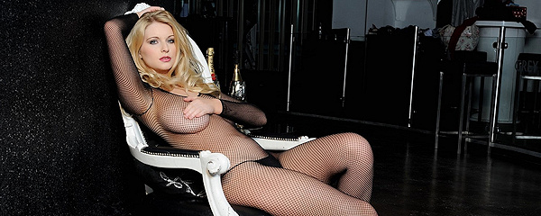 Jess Davies in bodystocking