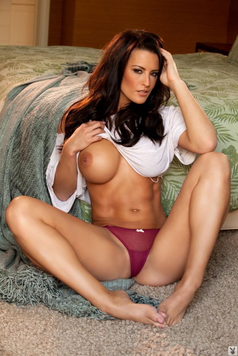 Playboy Porn Captions - Playboy Naked Burnette Striping - PHOTO EROTICS