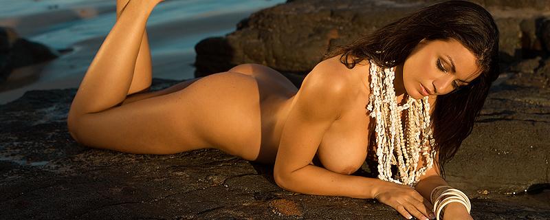 Jo Garcia on the rocky coast