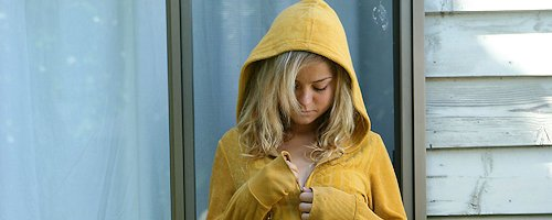 Johanna in hooded sweatshirt