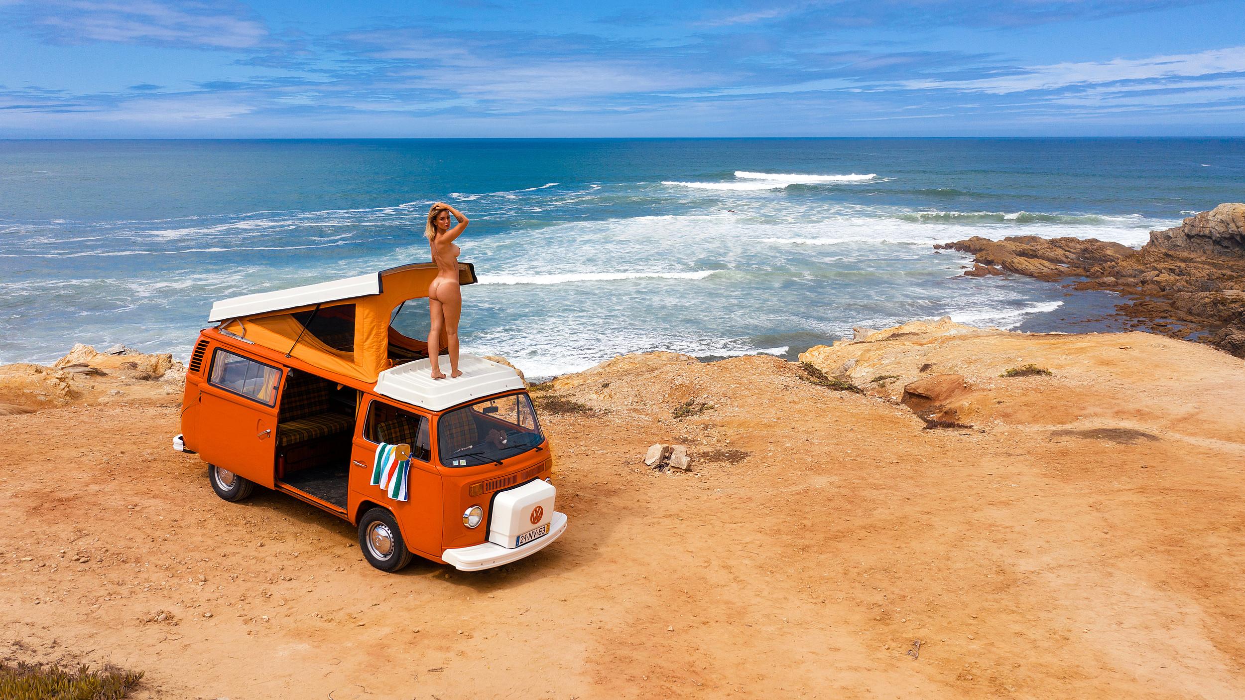 julia-rommelt-naked-tattoos-camper-seaside-december-2020-germany-playboy-19
