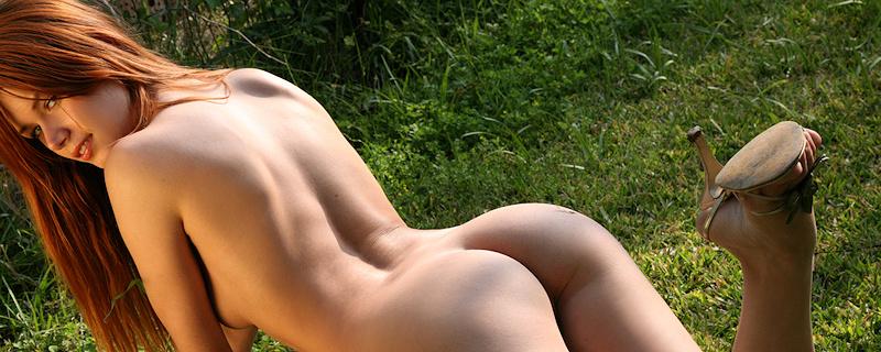 Kamila Hermanova in orange bikini
