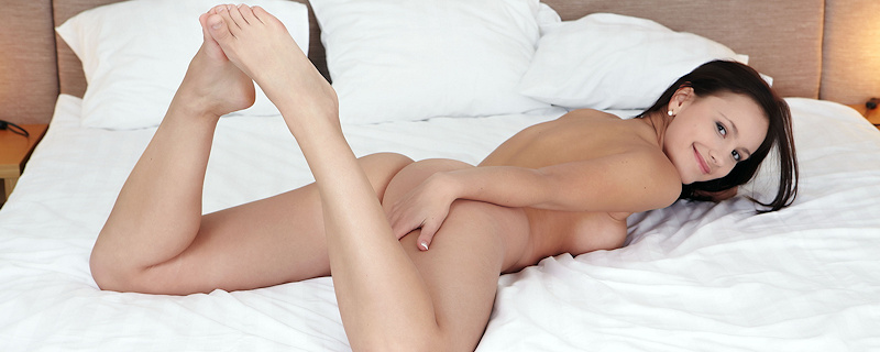 Karina naked on bed