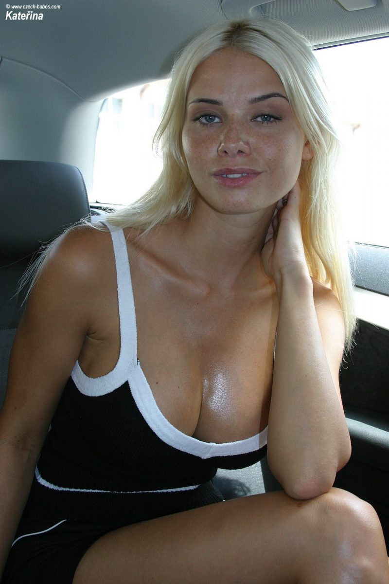 Car flash blonde bitch looks my cumshot 8
