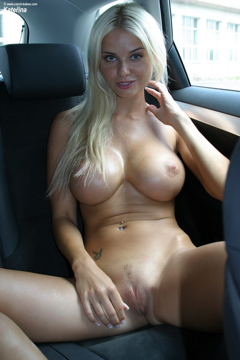 Big tits nude in cars