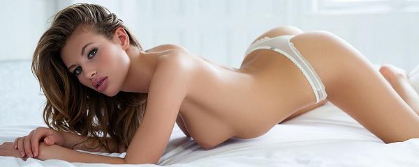 Katia Martin in white lingerie