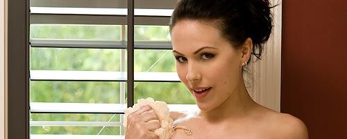 Katie Evan in bathtub