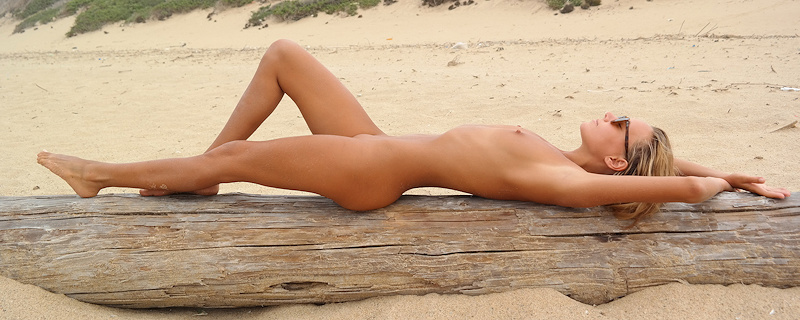 Katya Clover naked on the beach