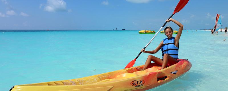 Katya Clover on Sirena Beach