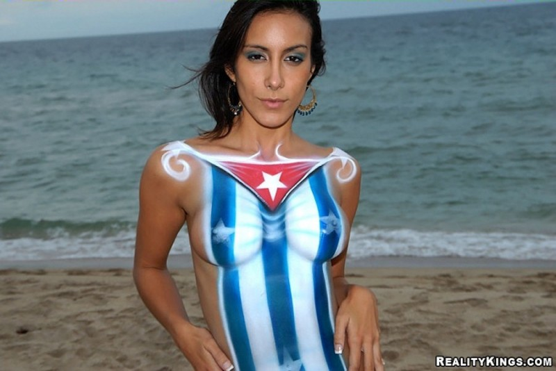 cuban body paint