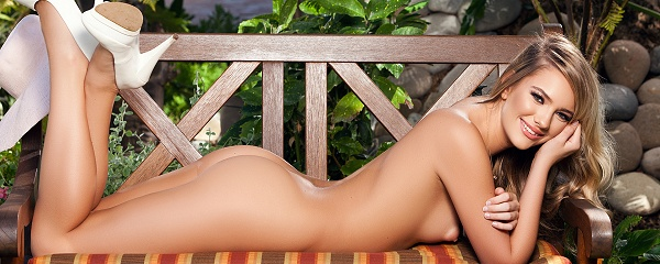 Kenna James in the garden