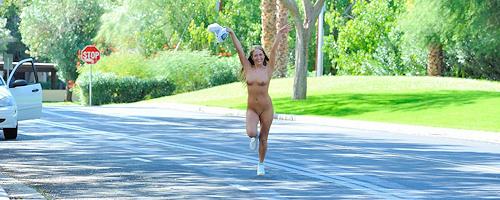 Kiera nude in public