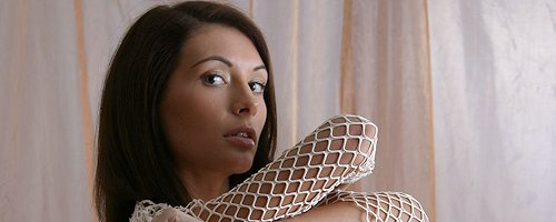 Kocsis Orsi in white fishnet