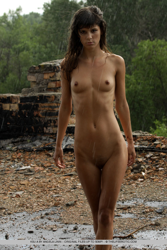 Naked outside in rain porn galleries