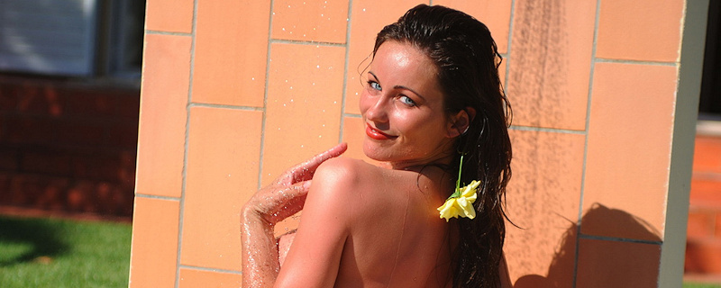Kyla Cole – Shower in the garden