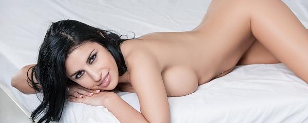 Laura Cattay in fancy lingerie